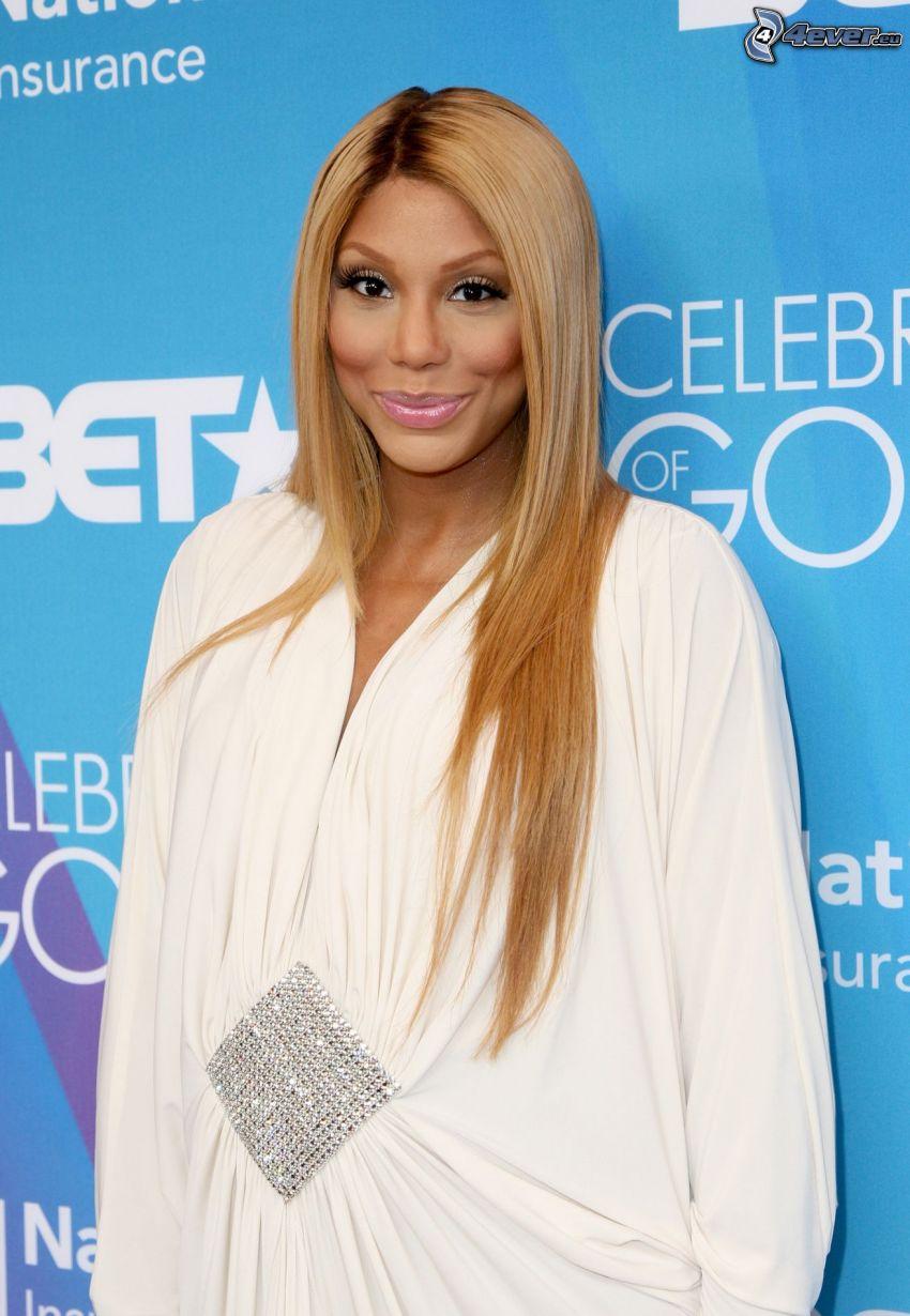 Tamar Braxton, vit klänning