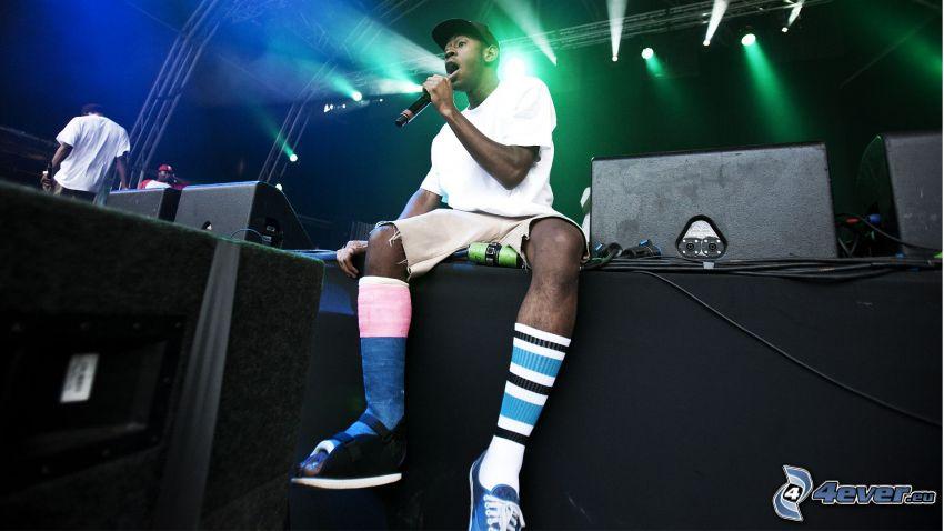 Tyler The Creator, mörkhyad man, rapper
