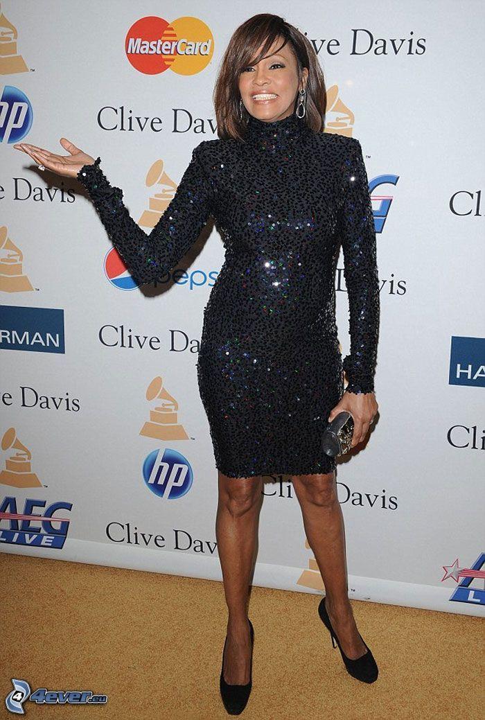 Whitney Houston, svart klänning