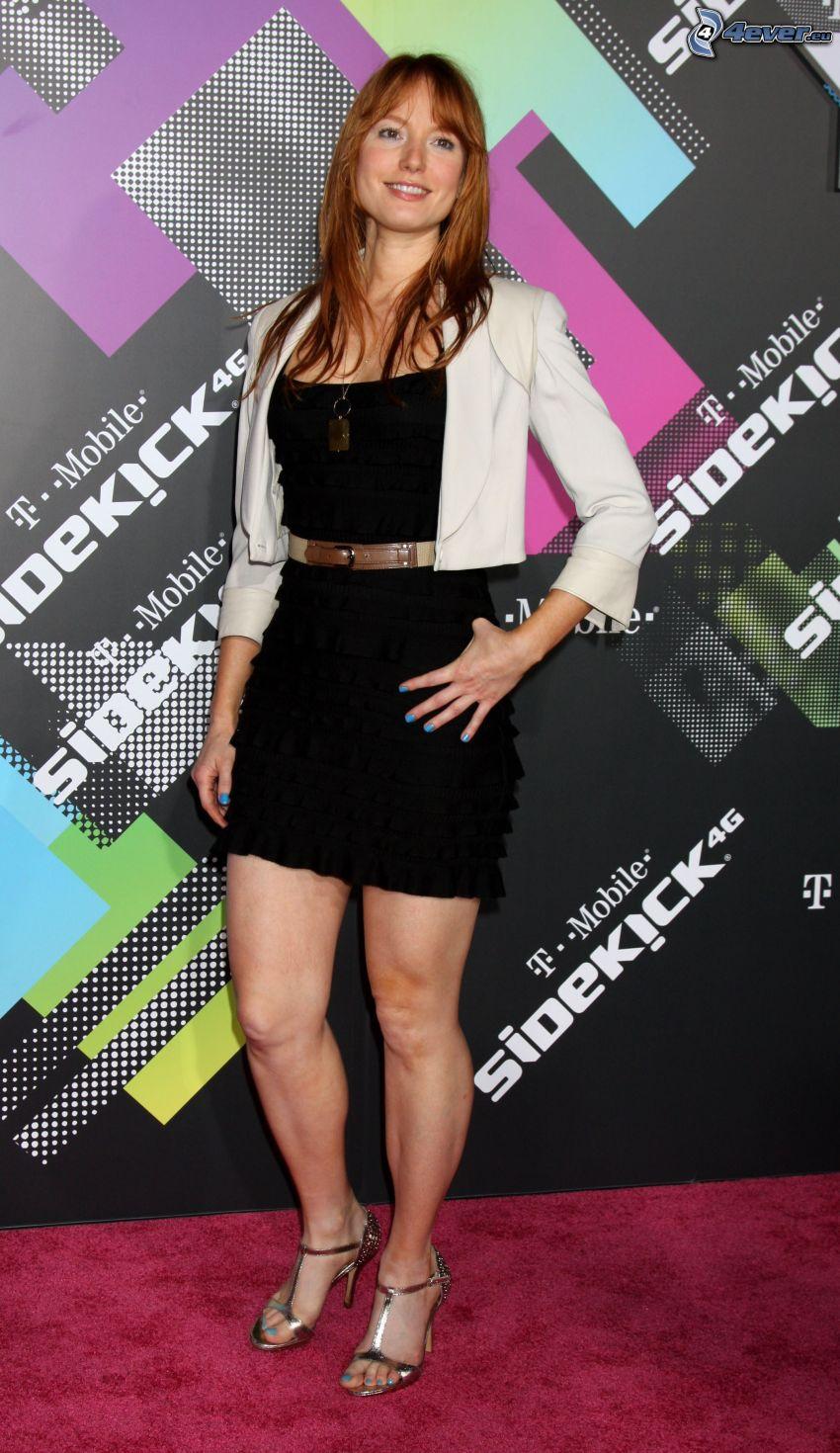 Alicia Witt, svart miniklänning