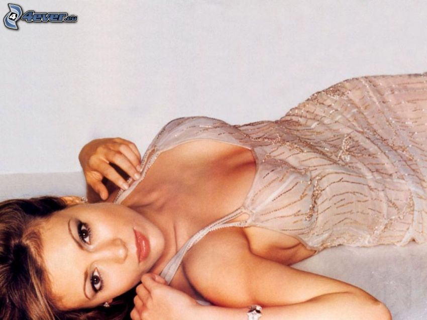 Alyssa Milano, skådespelerska, Phoebe, Charmed, brunhårig kvinna, beige klänning
