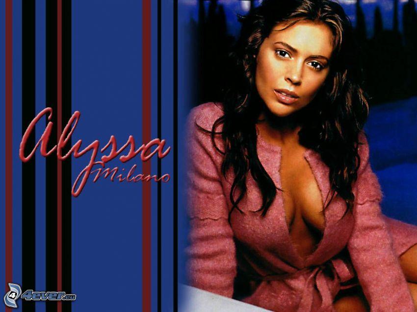 Alyssa Milano, skådespelerska, Phoebe, häxor, Charmed, brunhårig kvinna, kappa