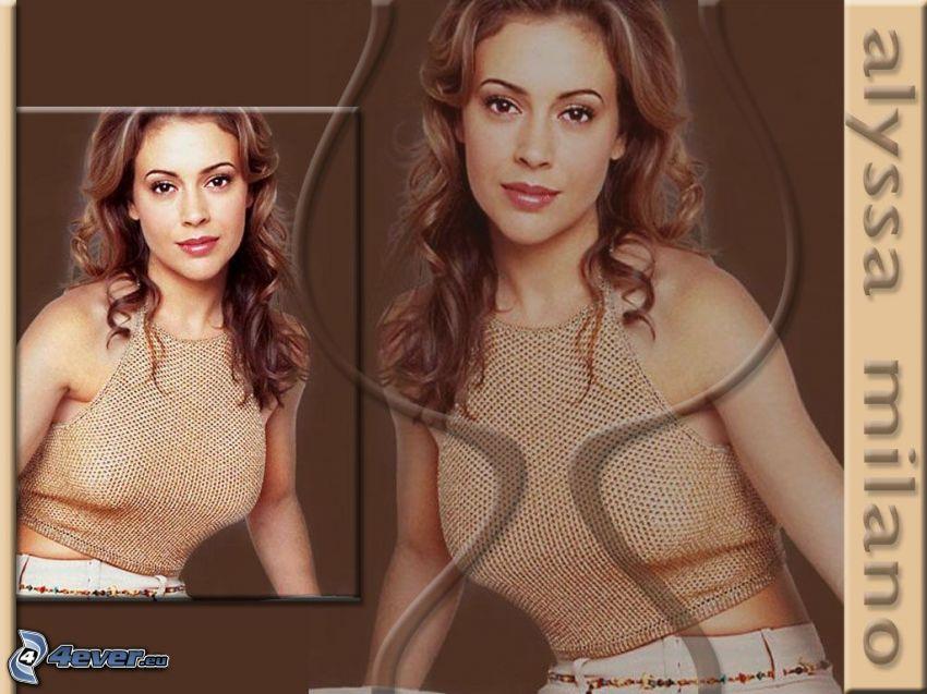 Alyssa Milano, skådespelerska, Phoebe, häxor, Charmed, brunhårig kvinna