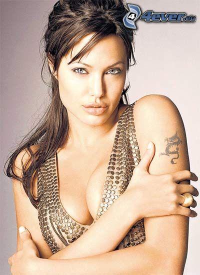 Angelina Jolie, förförisk blick