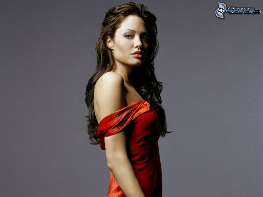 Angelina Jolie, röd klänning
