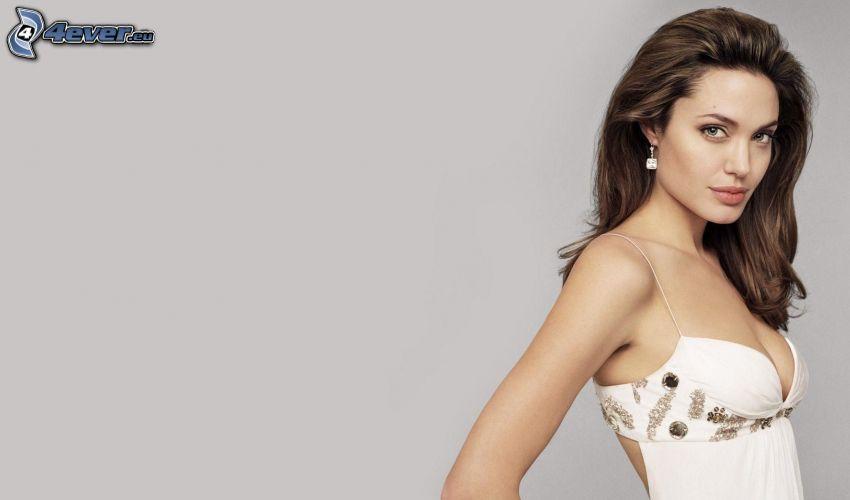 Angelina Jolie, vit klänning