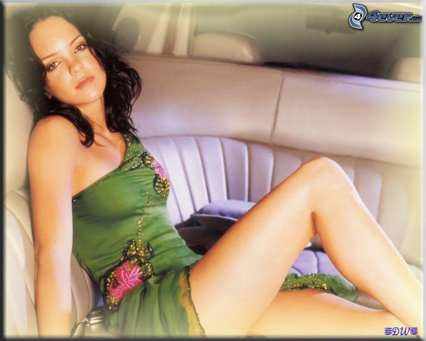 Anna Faris, limousine, tjej, grön klänning