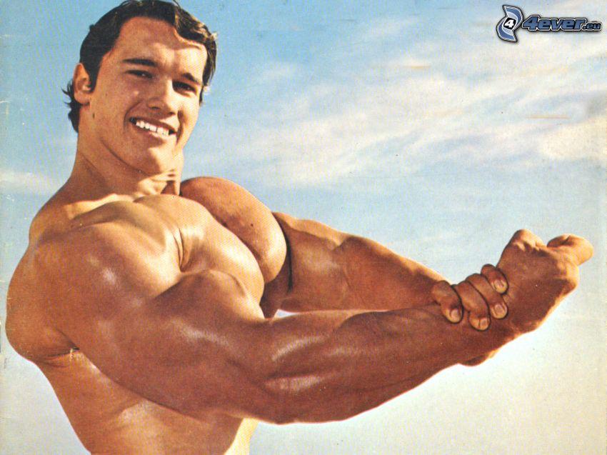 Arnold Schwarzenegger, muskulös man