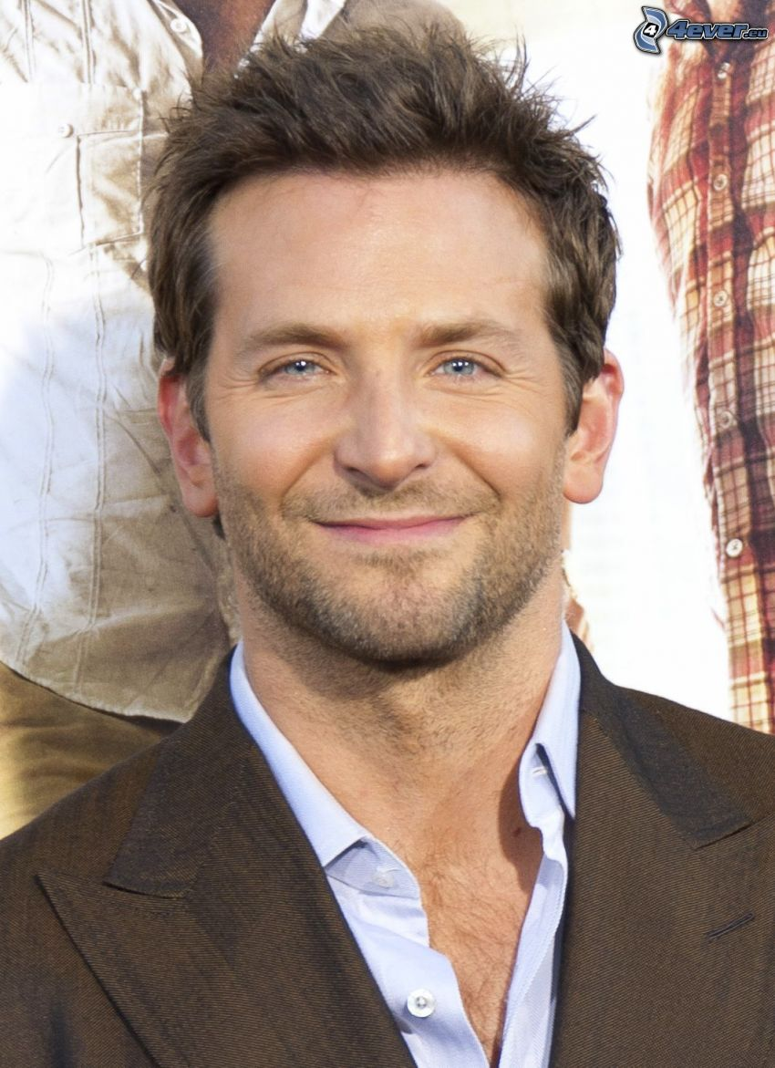 Bradley Cooper, leende, kavaj