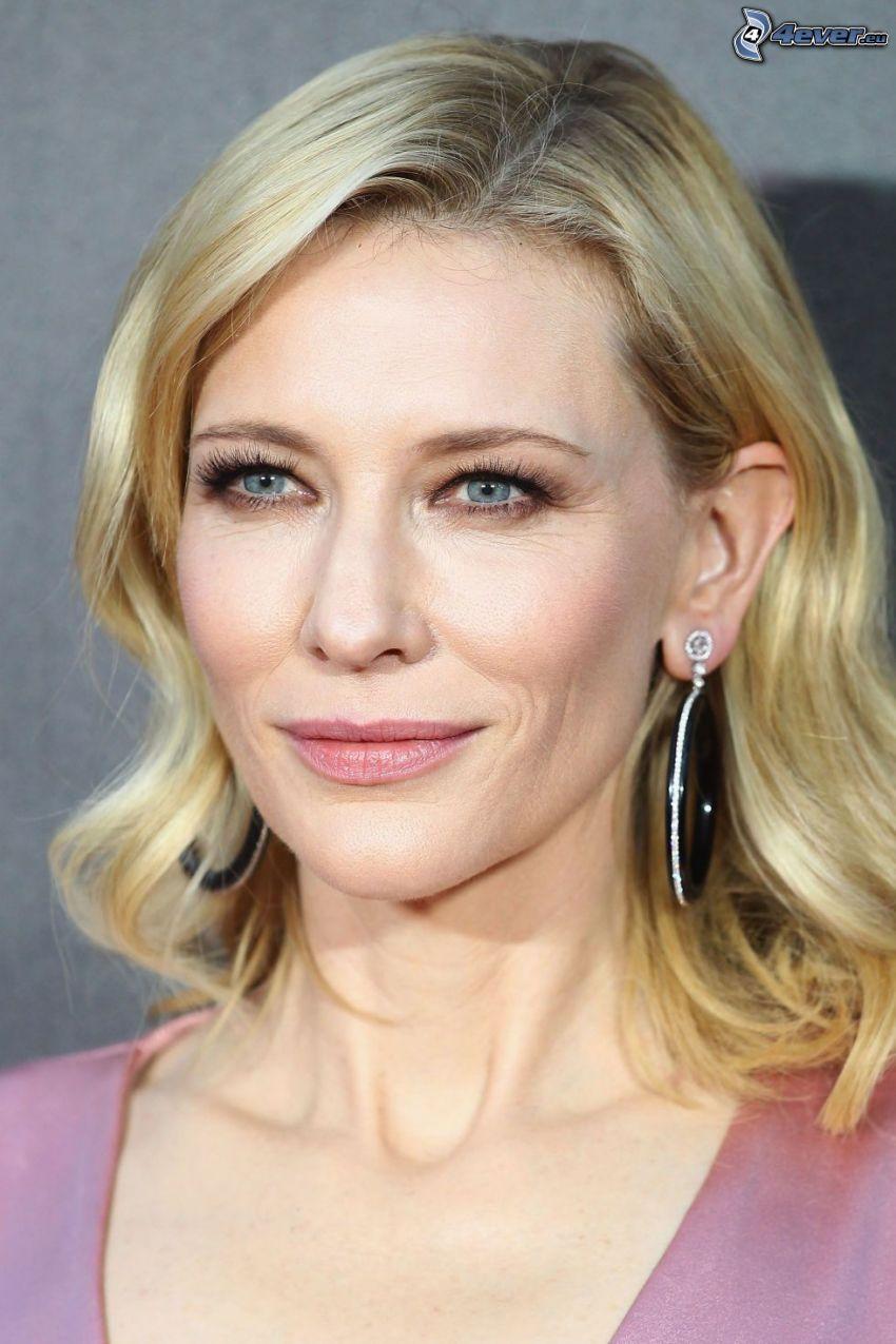 Cate Blanchett, blå ögon, leende