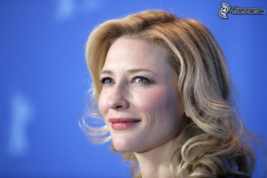 Cate Blanchett, blick, leende