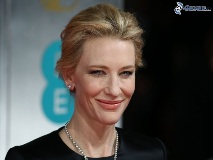Cate Blanchett, leende