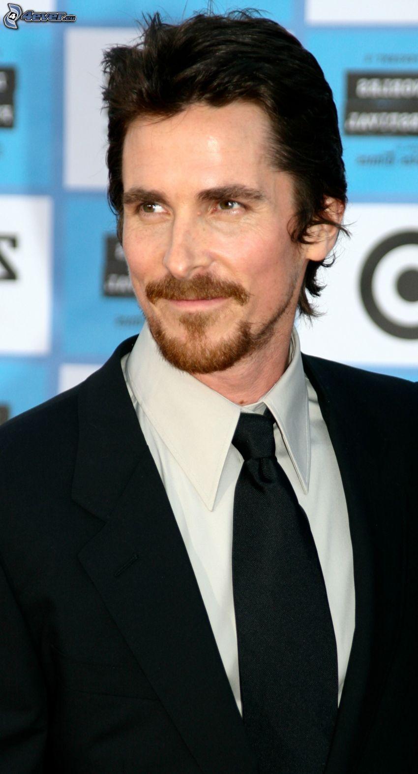 Christian Bale, man i kostym