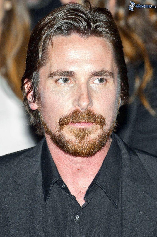 Christian Bale, mustasch