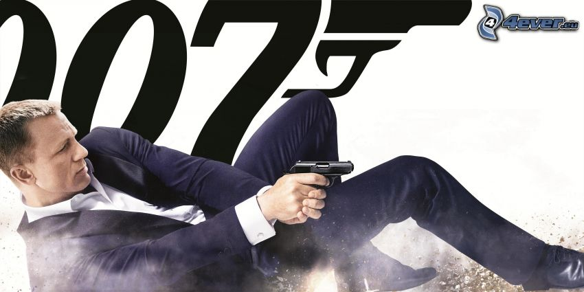 Daniel Craig, James Bond, man med vapen