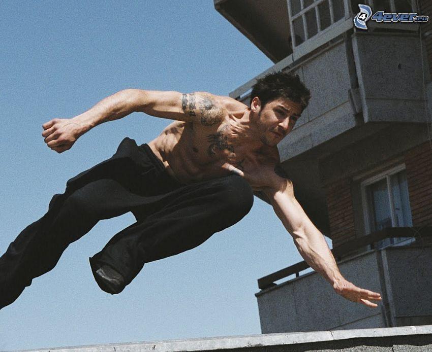 David Belle, hopp, stuntman