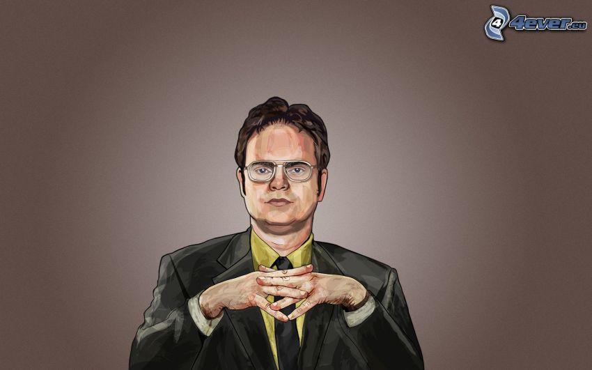 Dwight Schrute, teckning