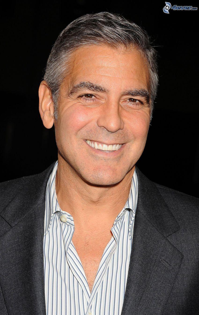 George Clooney, leende