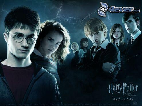 Harry, Hermione och Ron, Harry Potter, Hermione Granger, Ron Weasley