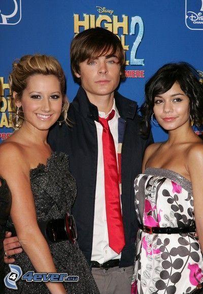 High School Musical, Ashley Tisdale, Zac Efron, Vanessa Hudgens, skådespelare