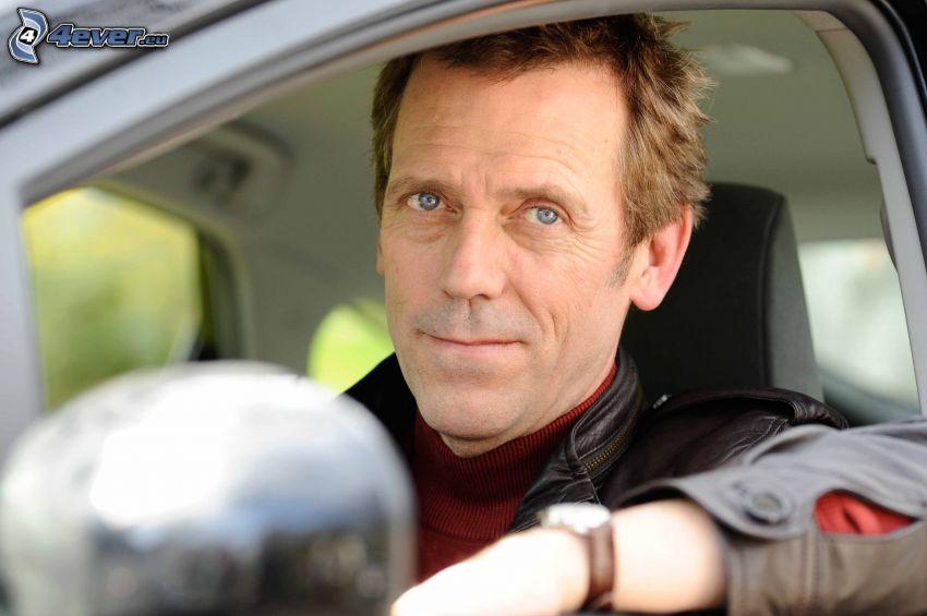 Hugh Laurie, leende