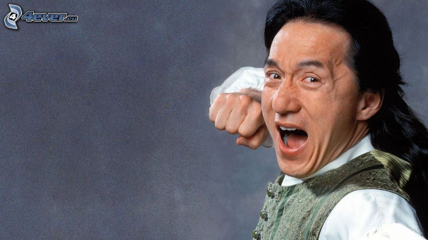 Jackie Chan, skrik