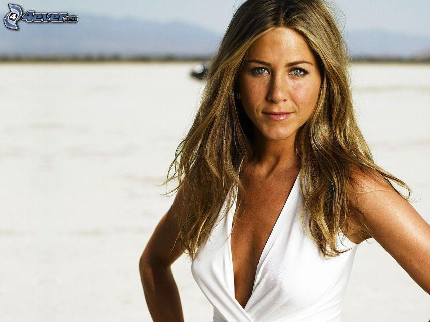 Jennifer Aniston, vit klänning