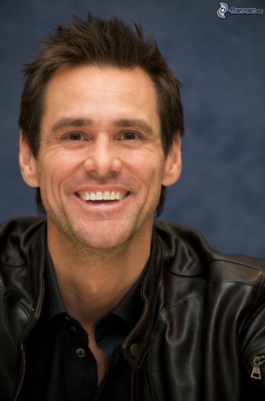 Jim Carrey, leende