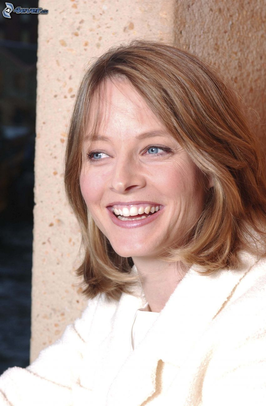 Jodie Foster, skratt, blick