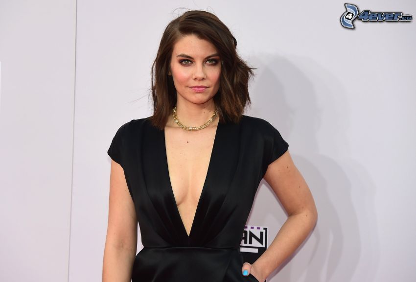 Lauren Cohan, svart klänning