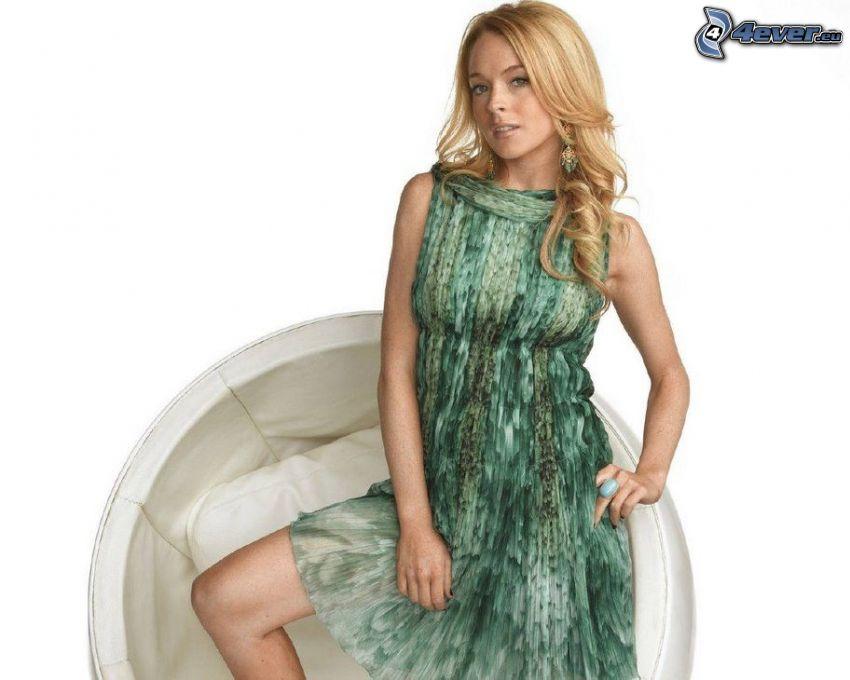 Lindsay Lohan, grön klänning