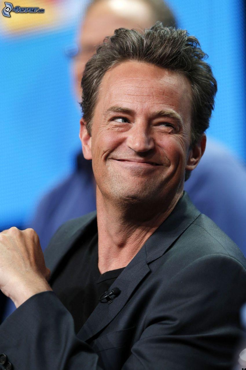 Matthew Perry, blick, leende