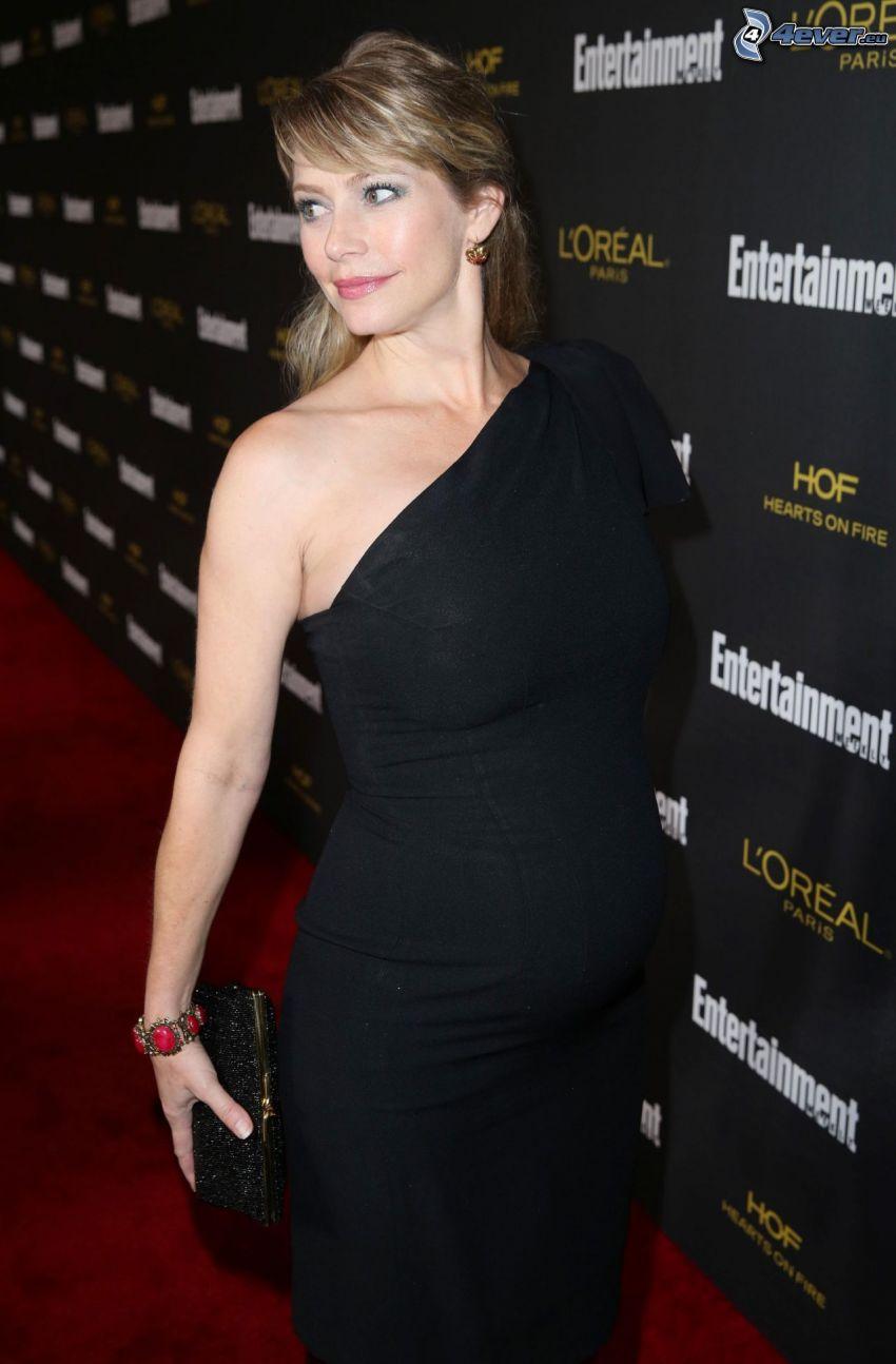 Meredith Monroe, svart klänning, gravid kvinna