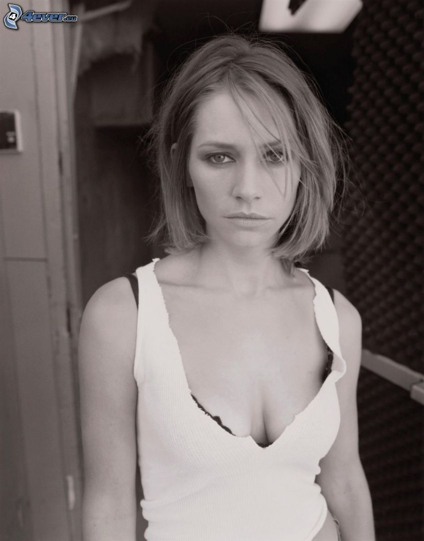 Meredith Monroe, svartvitt foto