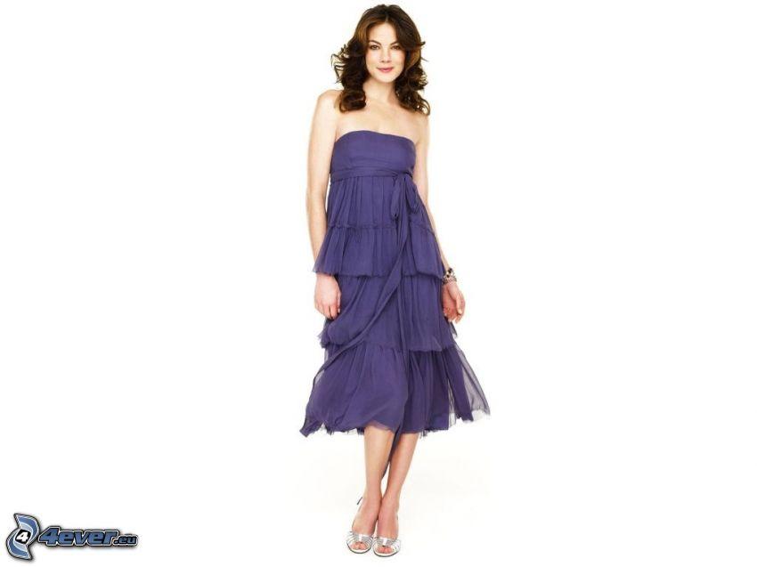Michelle Monaghan, lila klänning
