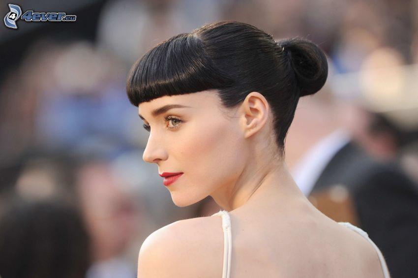 Rooney Mara, röda läppar