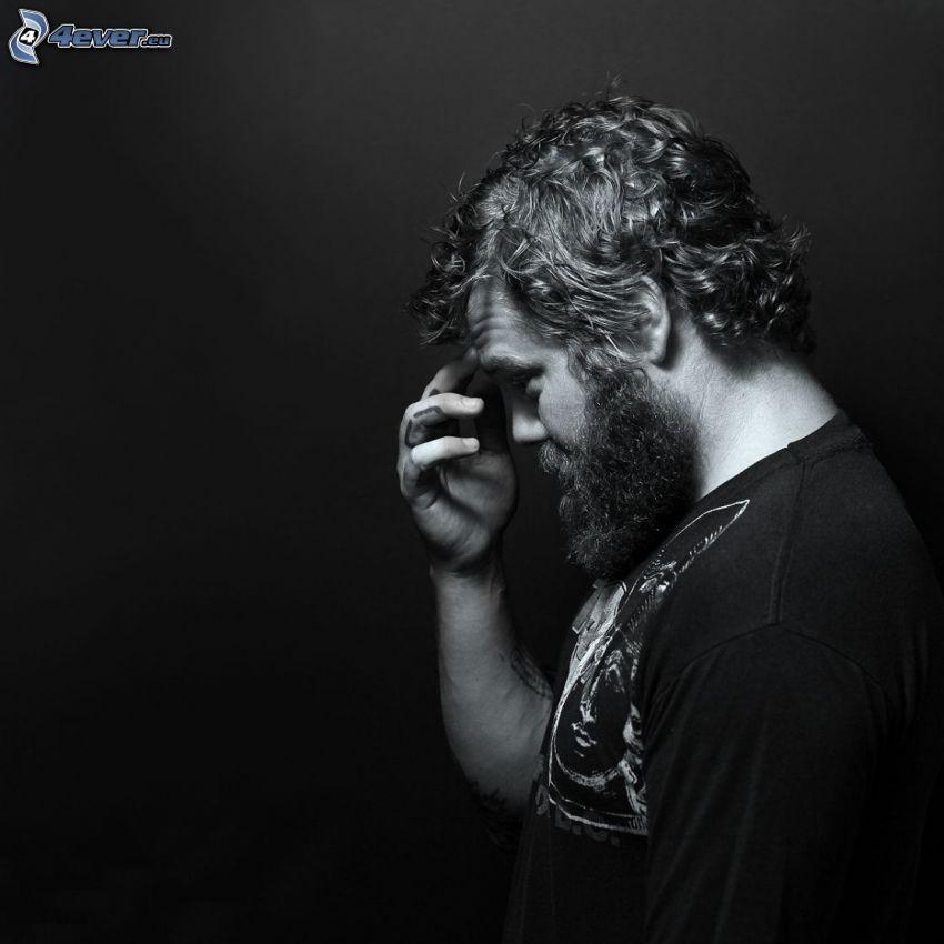 Ryan Dunn, svartvitt foto