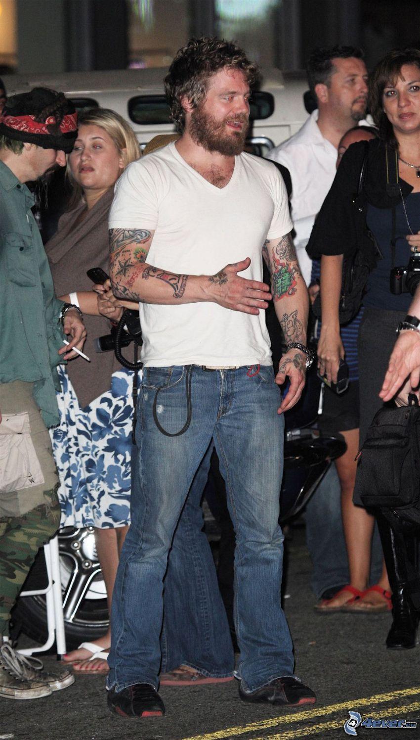 Ryan Dunn, tatuerad man