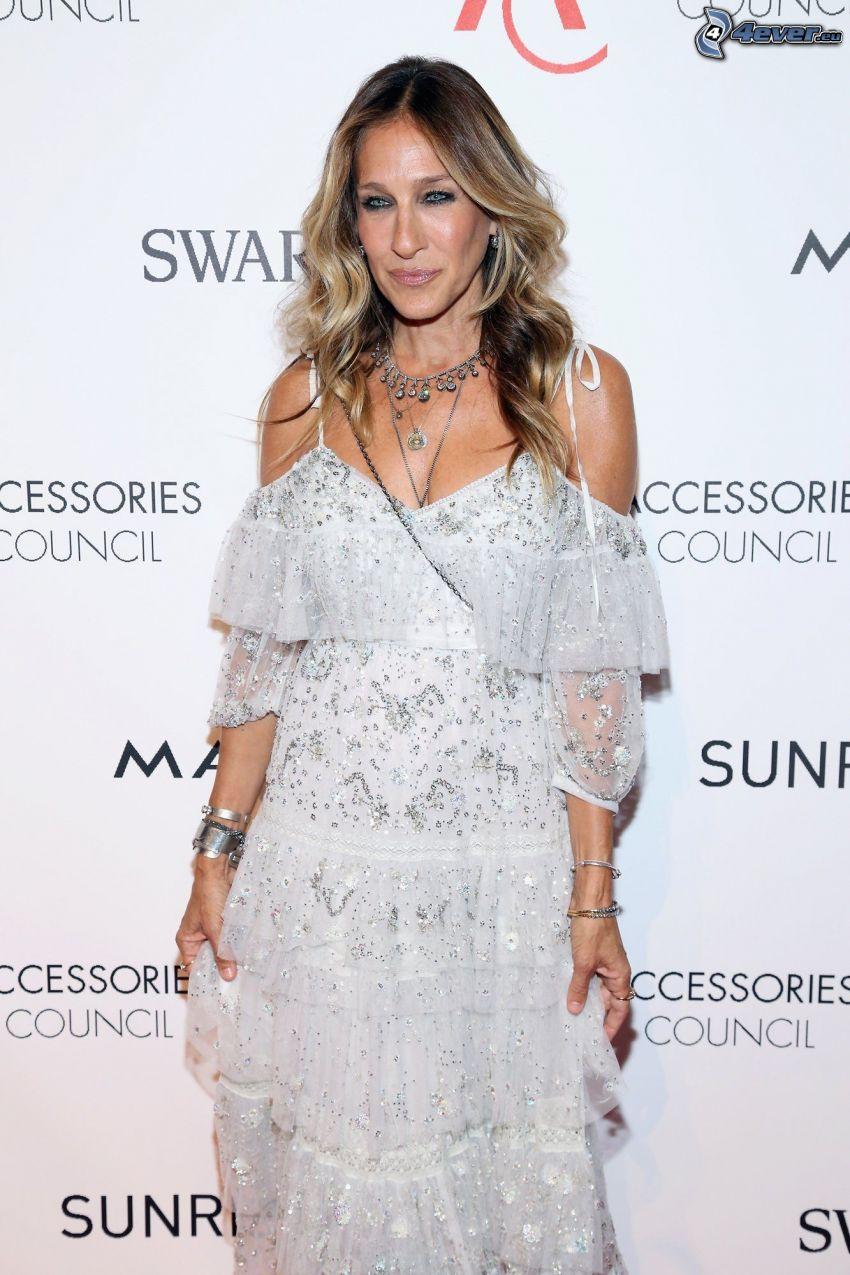 Sarah Jessica Parker, vit klänning