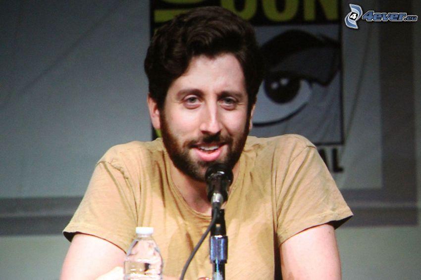 Simon Helberg, mikrofon