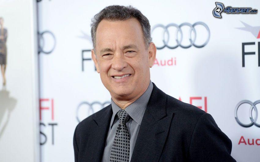 Tom Hanks, leende