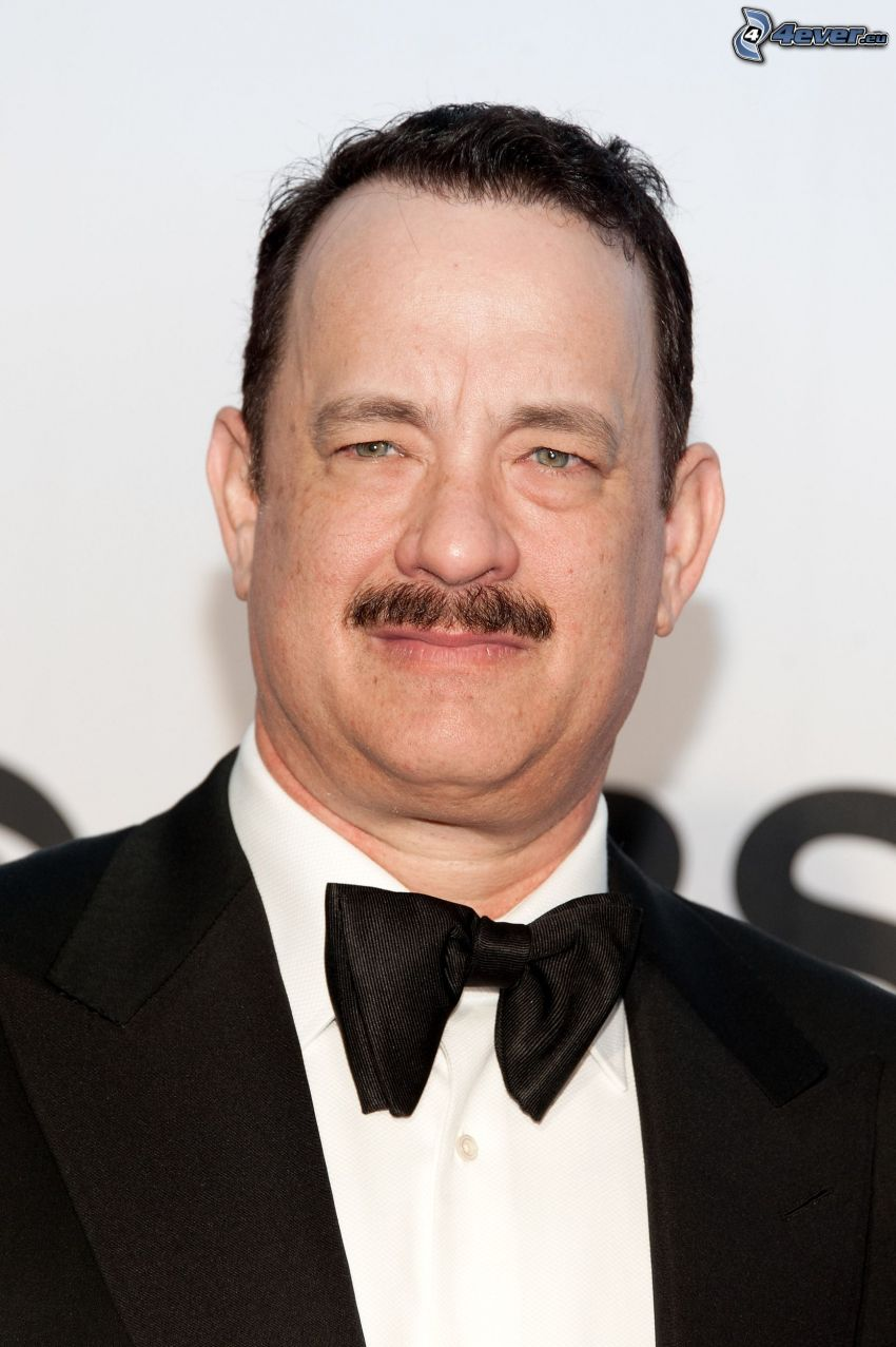 Tom Hanks, man i kostym, fluga