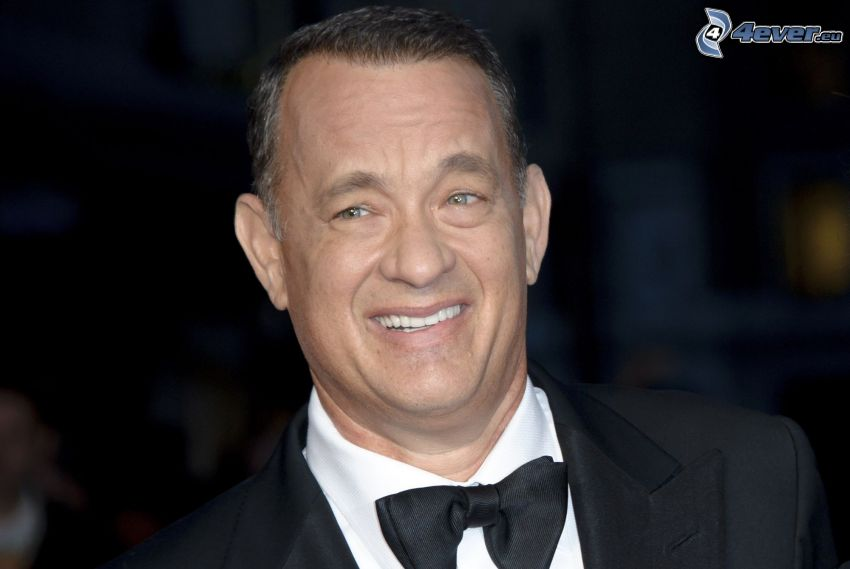 Tom Hanks, man i kostym, leende