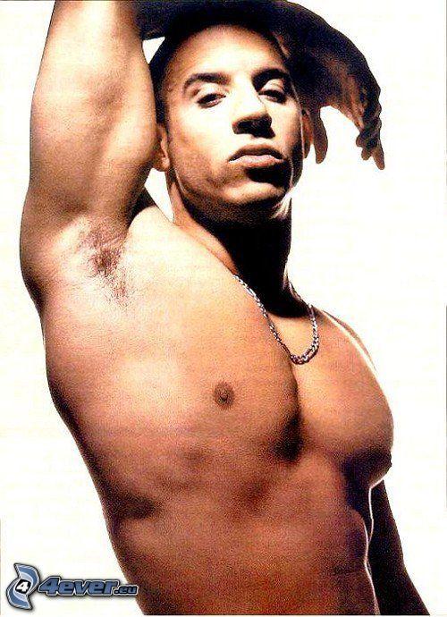 Vin Diesel, muskulös man