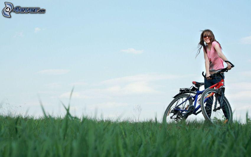 tjej, cykel