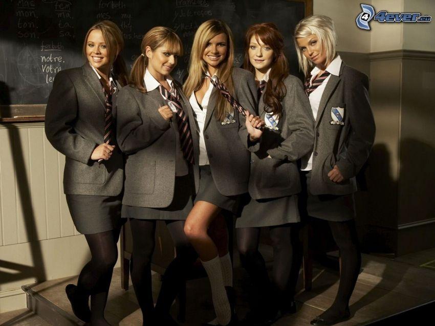 tjejstudenter, uniform