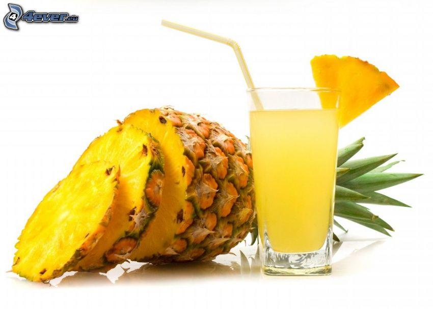 ananas, färsk juice