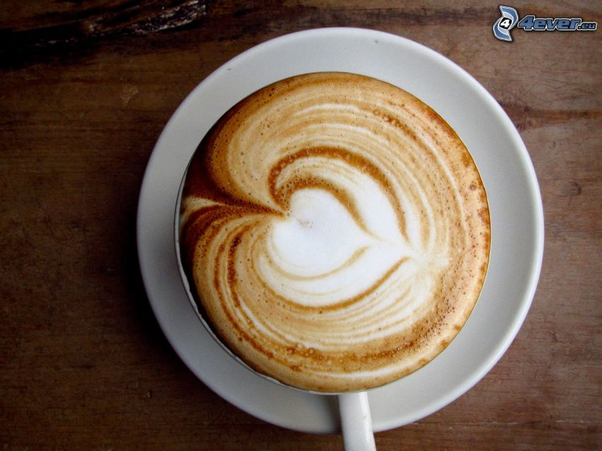 cappuccino, skum