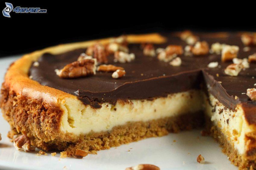 cheesecake, choklad