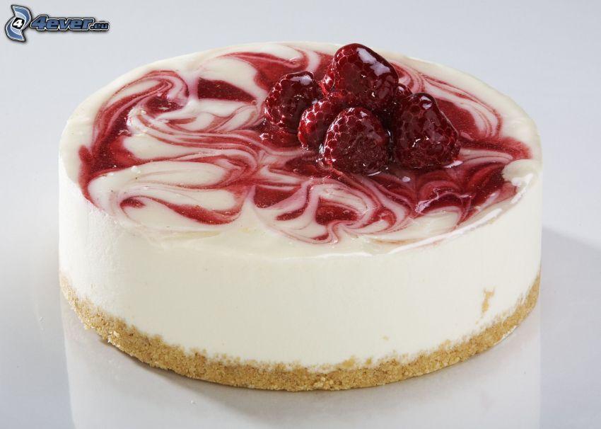 cheesecake, jordgubbar